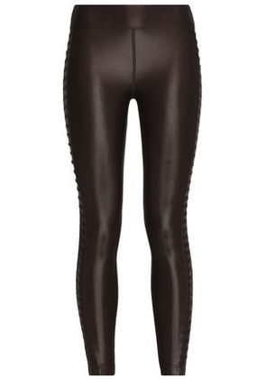 Koral Woman Coated Stretch Leggings Chocolate Size L
