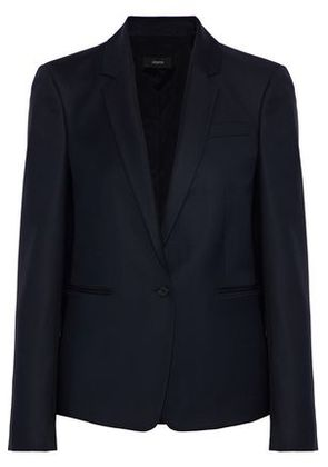 Joseph Woman Will Wool-twill Blazer Midnight Blue Size 36