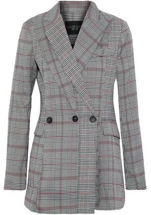 W118 By Walter Baker Woman Saundra Prince Of Wales Checked Woven Blazer Gray Size S