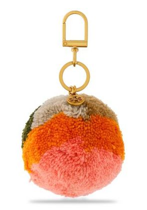 Tory Burch Woman Alexa Embellished Woven Wool Keychain Multicolor Size -