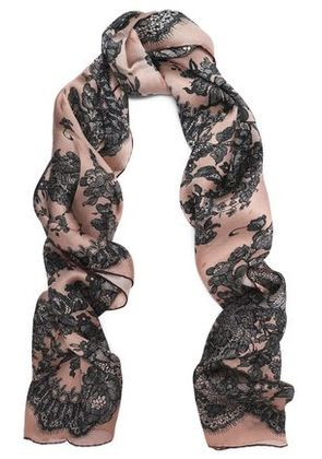 Valentino Woman Printed Silk Scarf Antique Rose Size -