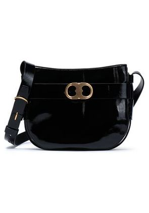 Tory Burch Woman Patent-leather Shoulder Bag Black Size -