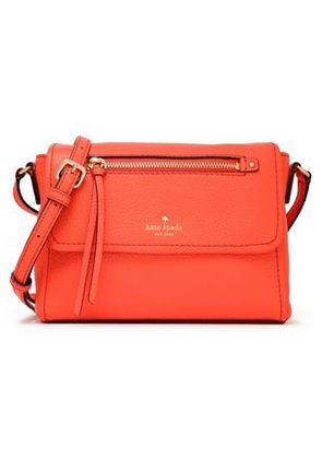 Kate Spade New York Woman Textured-leather Shoulder Bag Coral Size -