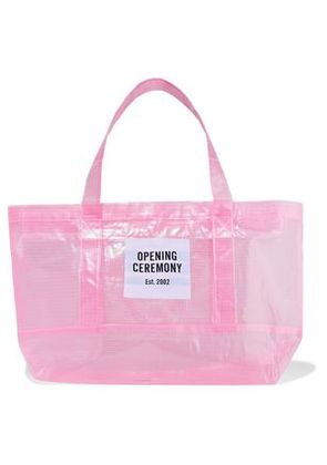 Opening Ceremony Woman Appliquéd Pvc Tote Baby Pink Size -