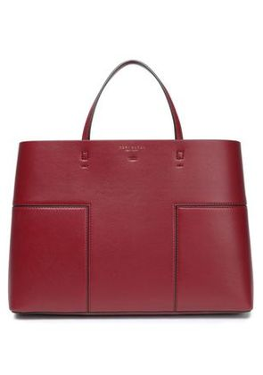 Tory Burch Woman Textured-leather Tote Claret Size -