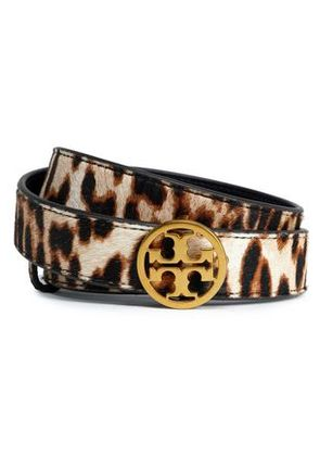 Tory Burch Woman Leopard-print Leather Belt Animal Print Size S