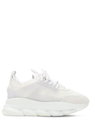 CHAIN REACTION MESH & LEATHER SNEAKERS