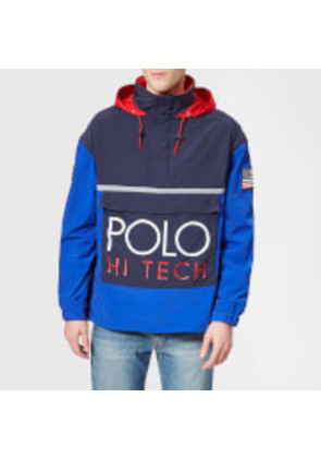 Polo Ralph Lauren Men's Pop Over Jacket - Bright Royal/Newport Navy - S - Blue