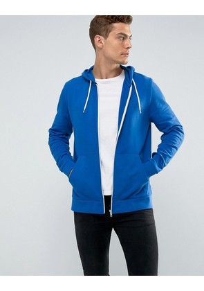 ASOS Zip Up Hoodie In Blue - Persian blue