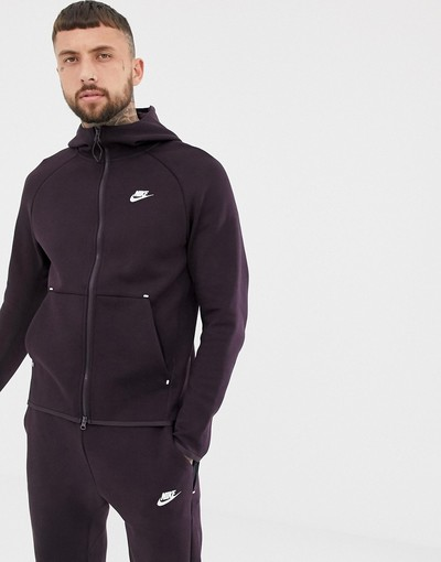 In Nike Fleece Purple Through Zip 928483 Hoodie 659 Tech Dark XxrBPwX