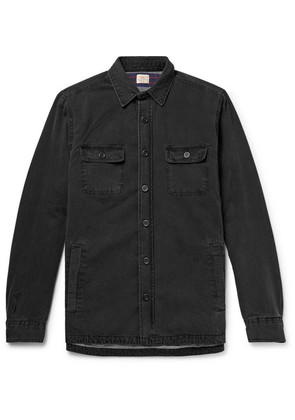 Faherty - Cpo Flannel-lined Washed-denim Shirt Jacket - Black
