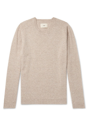 Patrice Pointelle-trimmed Mélange Wool Sweater
