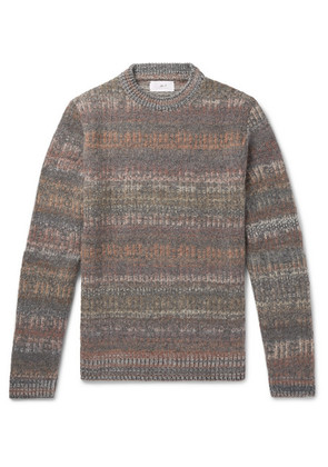 Space-dyed Mélange Knitted Sweater