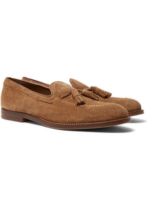 Suede Tasselled Loafers