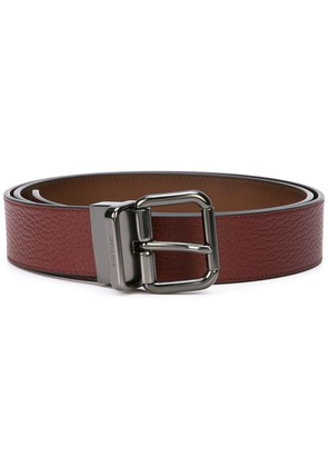 Coach buckle leather belt - Red