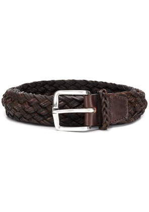 Orciani braided belt - Brown