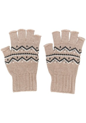Maison Margiela fingerless knitted gloves - Neutrals