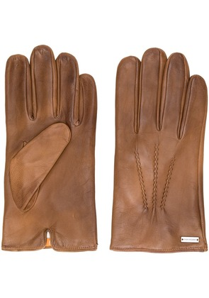 Boss Hugo Boss logo plaque gloves - Brown