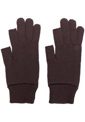 Rick Owens knitted gloves - Brown