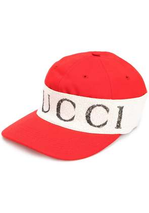 Gucci cap with logo headband - Red