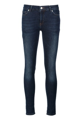 Anine Bing mid rise skinny jeans - Blue
