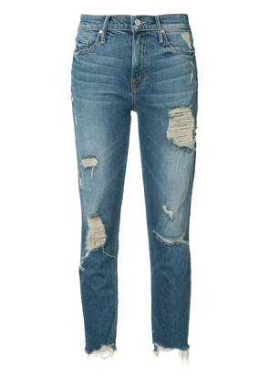 Mother ripped cropped jeans - Blue