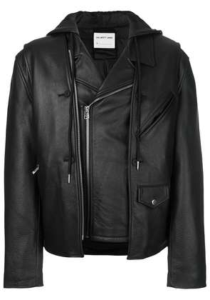 Helmut Lang layered biker jacket - Black