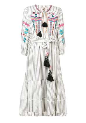 Figue Noor stripe dress - White