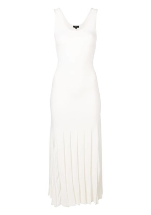 Theory pleated tank dress - White