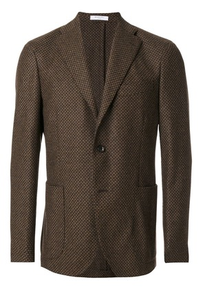 Boglioli woven single breasted jacket - Brown