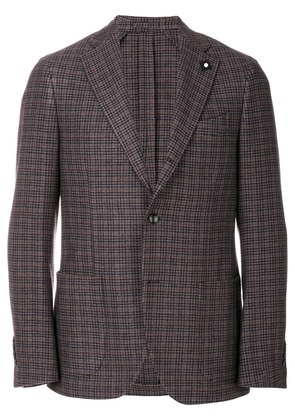 Lardini patterned single breasted blazer - Brown