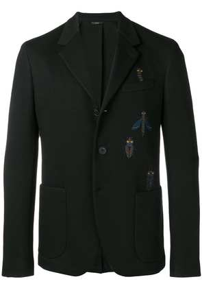 Fendi Super Bug embroidered blazer - Black