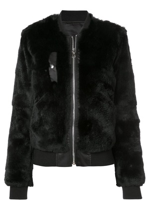 Barbara Bui fox fur bomber jacket - Black