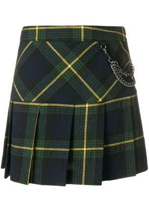Boutique Moschino plaid pleated skirt - Green