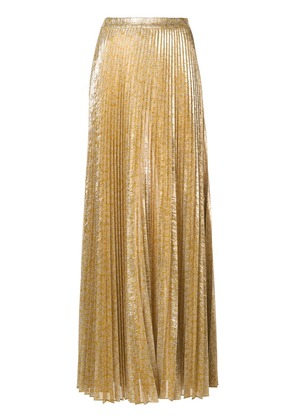 Alexis maxi pleated skirt - Gold