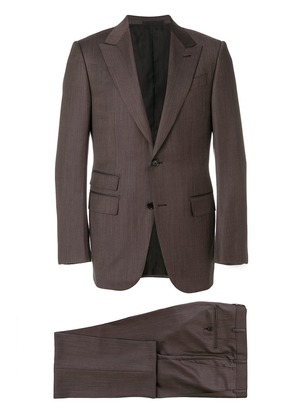 Ermenegildo Zegna woven single breasted suit - Brown