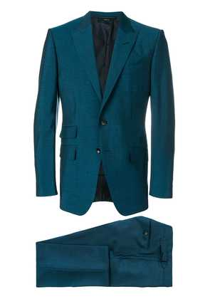 Tom Ford sharkskin single breasted suit - Blue