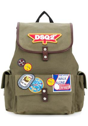 Dsquared2 DSQ2 patch backpack - Green