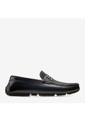 Bally Pievo Blue, Men's brushed calf leather driver in ink