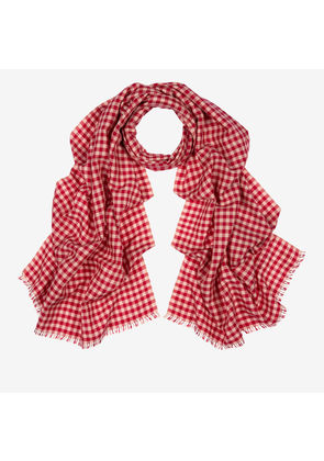 Bally Checked Cashmere-Silk Scarf, Women's silk and cashmere blend scarf in multi-melrose