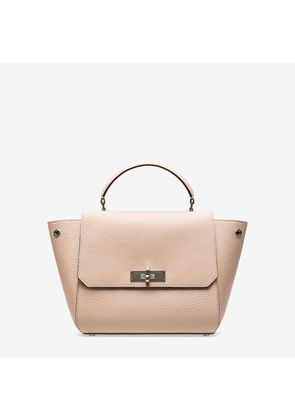 Bally B Turn Small Neutral, Women's small calf leather top handle bag in skin