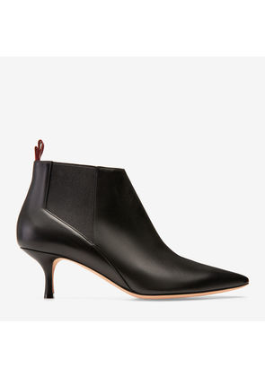 Bally Alanna Black, Women's plain calf leather ankle boot with 55mm heel in black
