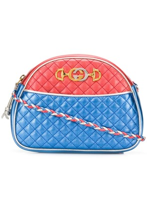 Gucci Laminated leather cross-body bag - Silver