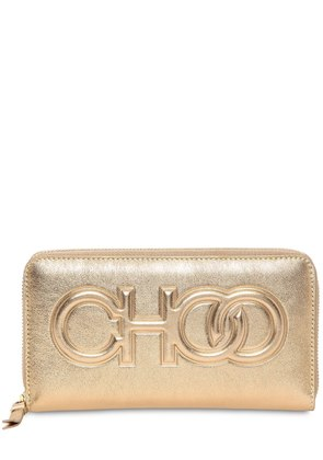 BETTINA EMBOSSED LOGO LEATHER WALLET