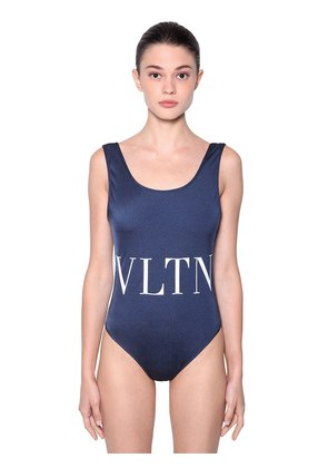 LOGO PRINTED LYCRA ONE PIECE SWIMSUIT