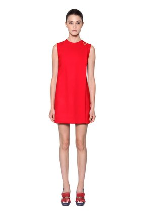 DOUBLE STRETCH WOOL CREPE DRESS