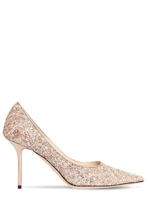 85MM LOVE GLITTERED PUMPS