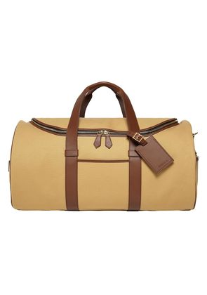 William & Son Beige Canvas and Leather Griffin Barrel Holdall