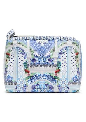 Camilla Woman Printed Coated Faux Leather Cosmetics Bag Off-white Size -