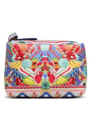 Camilla Woman Printed Coated Faux Leather Cosmetics Bag Multicolor Size -